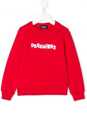 Толстовка красная декоративный Dsquared2 Kids