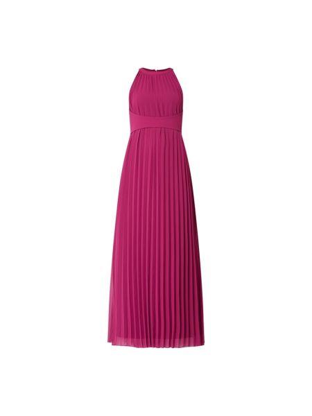 Różowa sukienka wieczorowa rozkloszowana Apart Glamour
