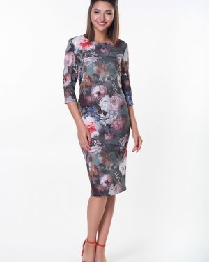 Платье в цветочный принт Valentina