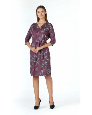 Платье миди с цветочным принтом повседневное Zip-art
