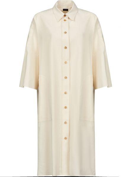 Хлопковое платье - бежевое Joseph