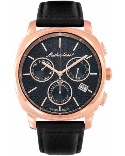 Кварцевые часы с кожаным ремешком швейцарские Mathey-tissot