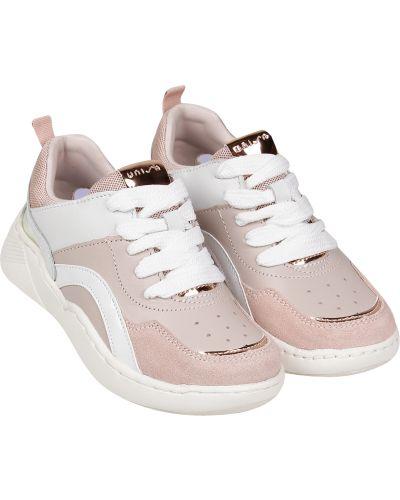 Розовые кожаные кроссовки Unisa