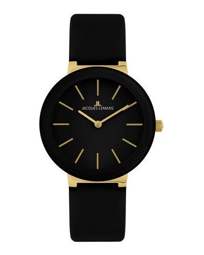 Czarny zegarek Jacques Lemans