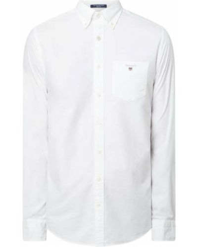 Biała koszula oxford bawełniana z długimi rękawami Gant