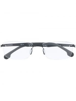 Прямые черные очки для зрения металлические Carrera