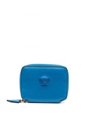 Niebieski portfel skórzany Versace