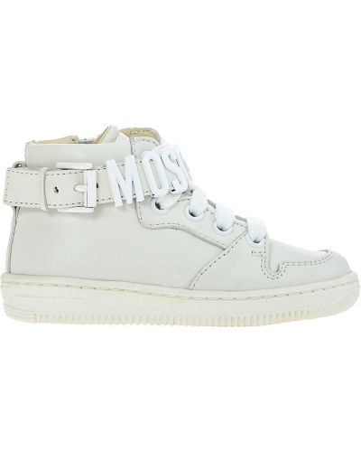 Белые кроссовки Moschino