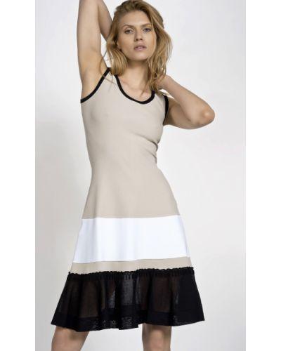 Czarna sukienka materiałowa Deni Cler Milano