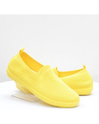 Желтые текстильные слипоны Difeno