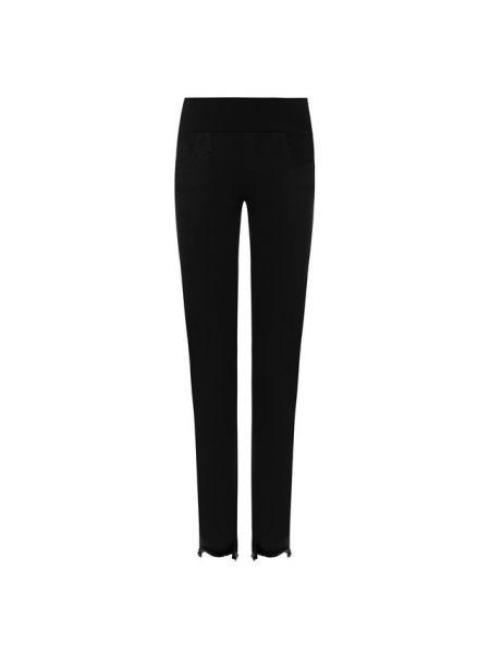 Черные укороченные джинсы на резинке с пайетками в стиле бохо Pietro Brunelli