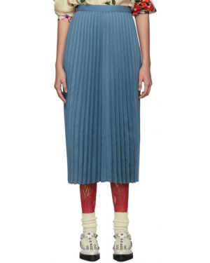 Плиссированная юбка пачка синяя Junya Watanabe