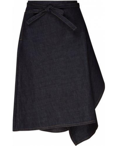 Юбка миди джинсовая с поясом Marni