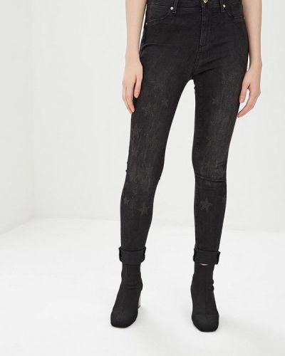 Черные джинсы-скинни с пайетками Gaudi