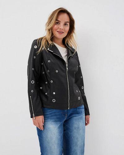 Кожаная куртка черная весенняя Fiorella Rubino