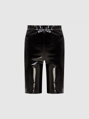 Кожаные шорты - черные David Koma