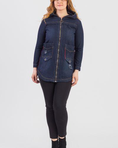 Джинсовая куртка с капюшоном длинная Lacywear