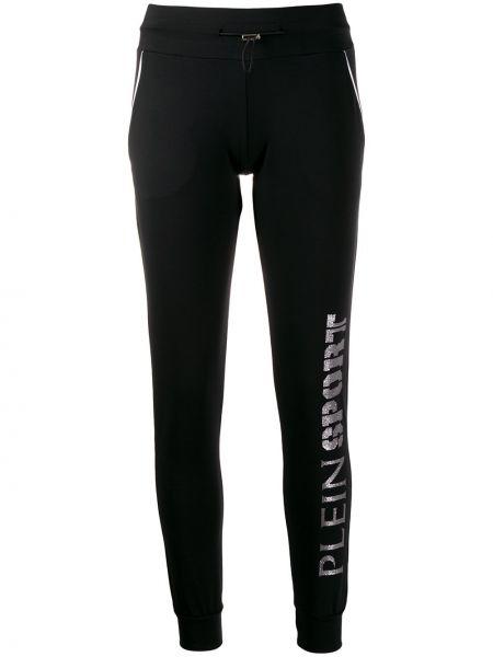 Черные спортивные брюки с подкладкой на шнурках Plein Sport