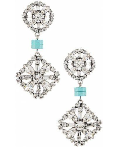 Kolczyki z kryształkami turkusowe Dannijo