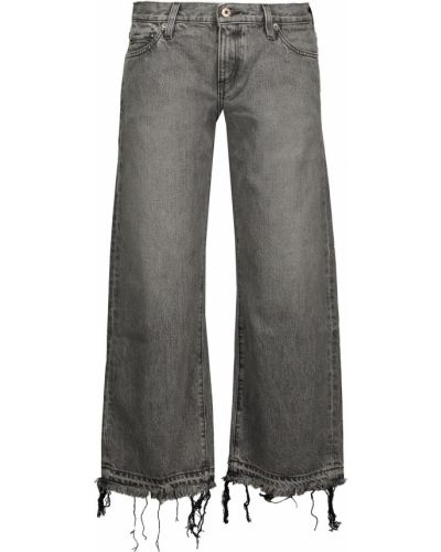 Mom jeans bawełniane - szare Simon Miller