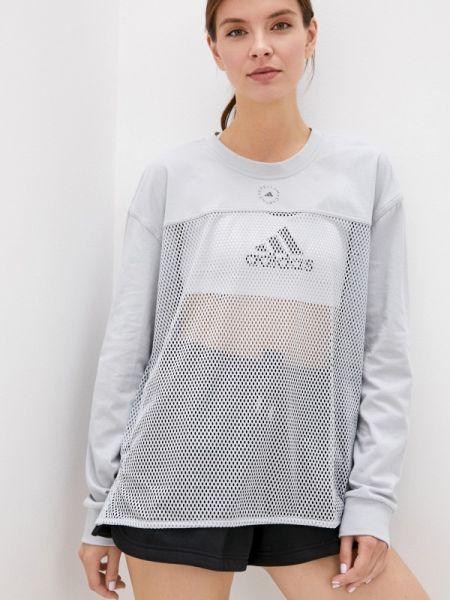 Топ футбольный серый Adidas By Stella Mccartney