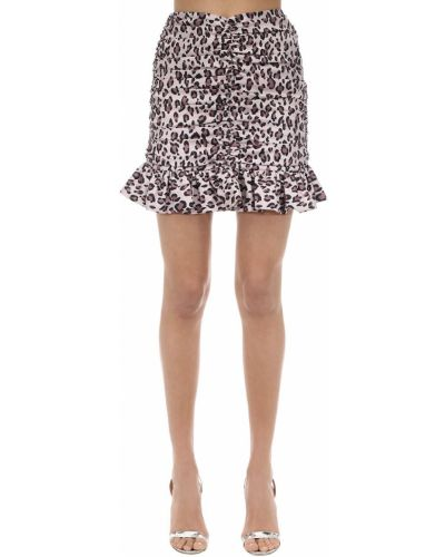 Różowa spódnica mini z printem Marianna Senchina