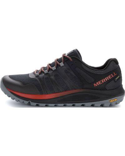 Кроссовки беговые черные на шнуровке Merrell