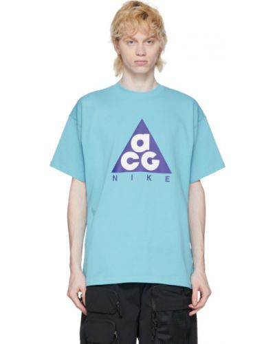 Рубашка с короткими рукавами с принтом с воротником-стойкой Nike Acg
