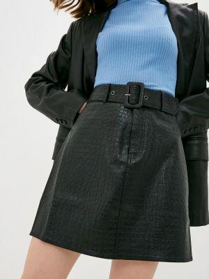 Черная кожаная юбка Twist & Tango