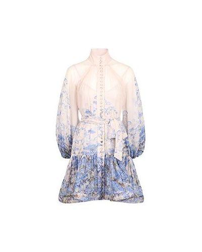 Хлопковое платье - голубое Zimmermann