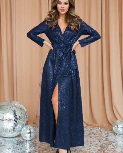 С рукавами вечернее платье с запахом с поясом Ellcora