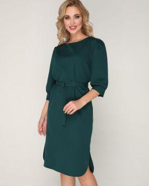 Деловое платье с разрезами по бокам с поясом Ellcora