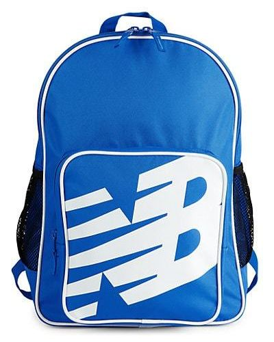 Синий текстильный рюкзак с карманами New Balance