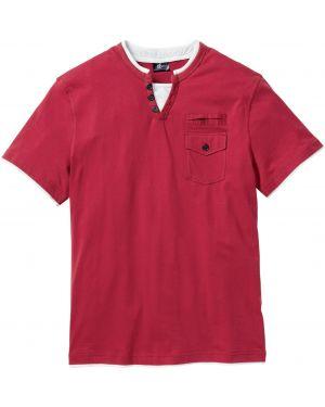 Футболка с карманами красный Bonprix