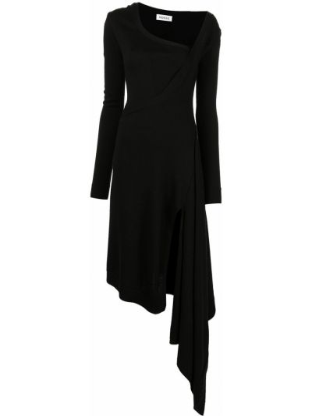 Czarna sukienka z długimi rękawami Monse