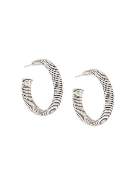Серебряные серьги-кольца Gas Bijoux
