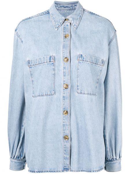 Классическая синяя свободная джинсовая куртка с воротником Nobody Denim