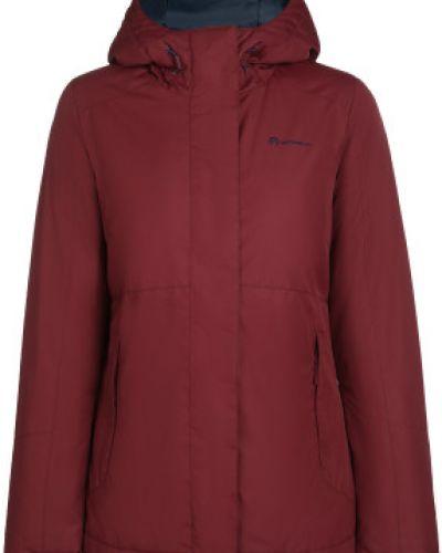 Приталенная теплая красная утепленная куртка на молнии Outventure