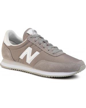 Skórzane sneakersy ze sztucznej skóry szary New Balance
