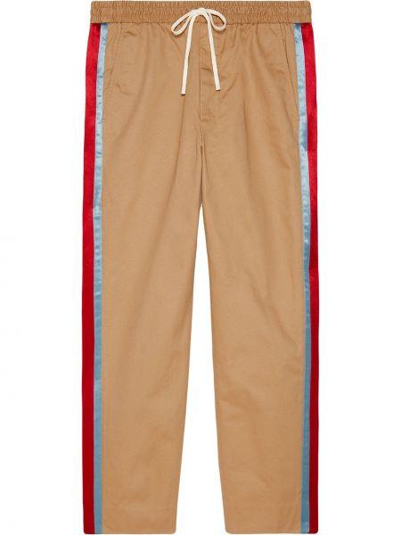 Beżowy bawełna bawełna majtki z paskami Gucci