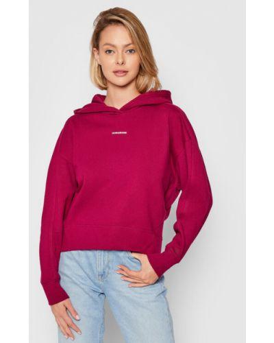 Bluza oversize bordowa Calvin Klein Jeans