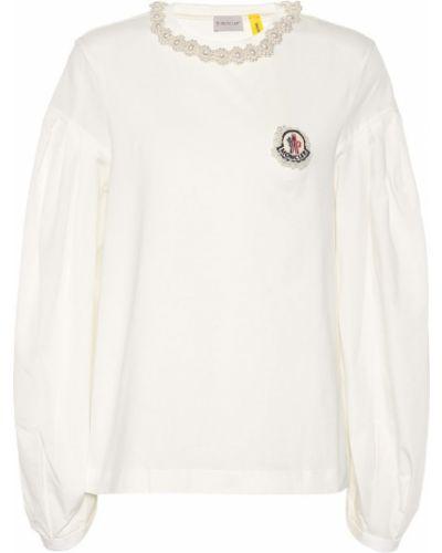 Классическая рубашка белая с жемчугом Moncler Genius