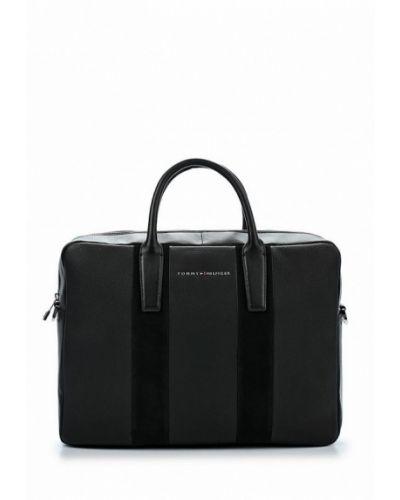 Черная кожаная сумка Tommy Hilfiger