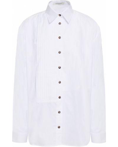 Biała koszula oxford bawełniana zapinane na guziki Cedric Charlier