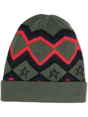 Шерстяная шапка бини - зеленая Perfect Moment