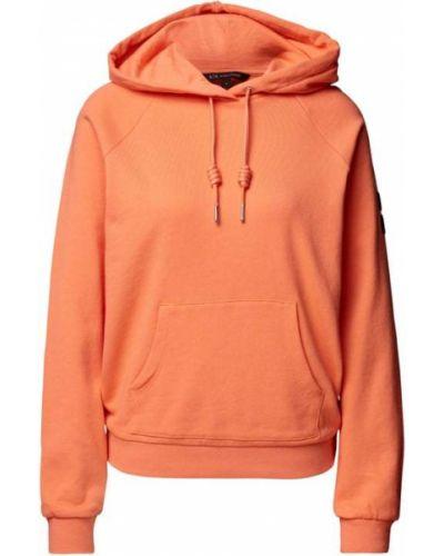 Bluza kangurka - pomarańczowa Armani Exchange