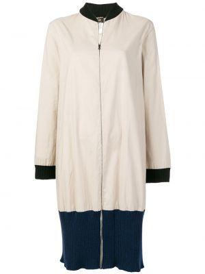 Пальто с воротником в рубчик винтажное на молнии Jean Paul Gaultier Pre-owned