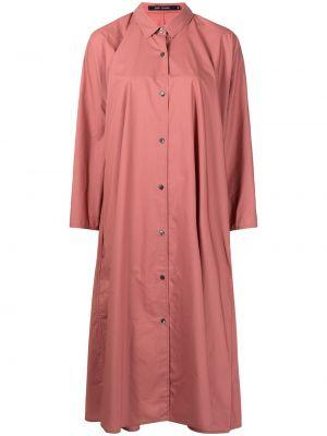 С рукавами красное платье миди с воротником Sofie D'hoore