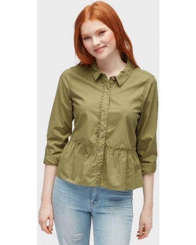 Блузка с длинным рукавом зеленый хаки Tom Tailor Denim