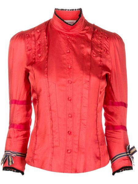 Рубашка из вискозы - красная A.f.vandevorst